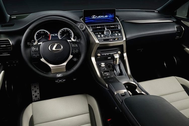 Lexus NX 300h SUV 4wd 2.5 h 197PS F-Sport 5Dr E-CVT [Start Stop] [Pan Roof] inside view